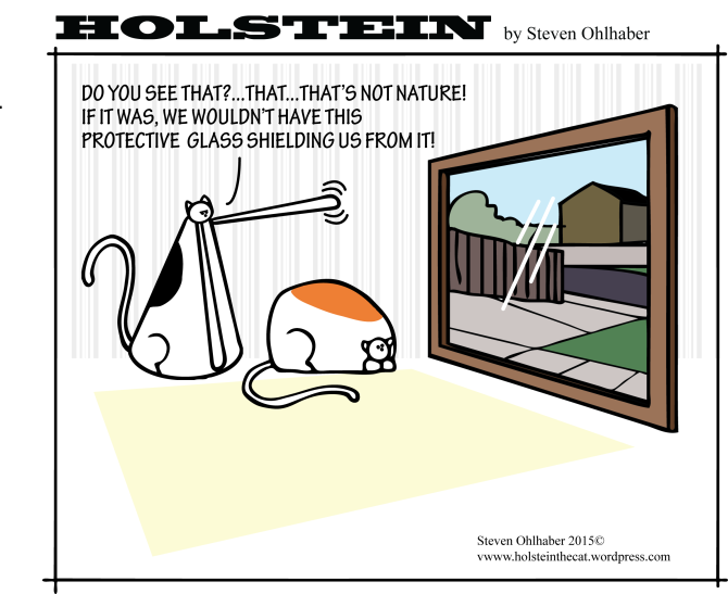 Protective Kitty by Holstein the Cat